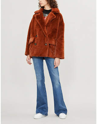 12ed4ad2f1d9 Free People Kate double-breasted faux-fur jacket