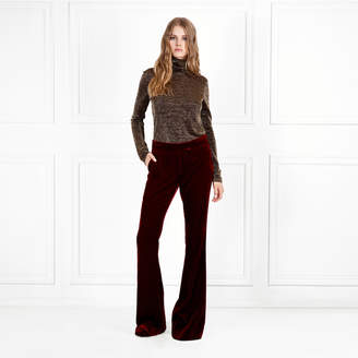 Rachel Zoe Bellah Metallic Jersey Turtleneck