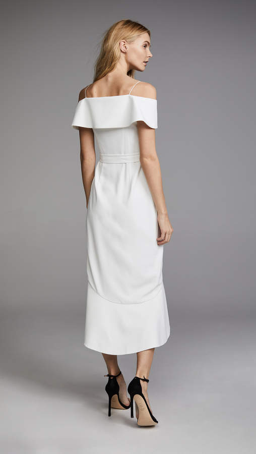 3447e471ca2 alice + olivia Josie Off Shoulder Wrap Dress detail image