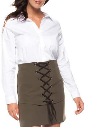 Dex Cold-Shoulder Button-Down Shirt