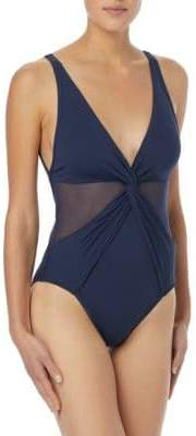 MICHAEL Michael Kors One-Piece Mesh Insert Swimsuit