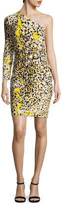 Roberto Cavalli One Shoulder Printed Sheath Dress