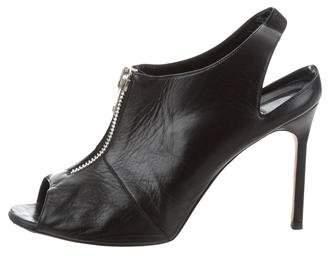 Manolo Blahnik Slingback Zip Sandals