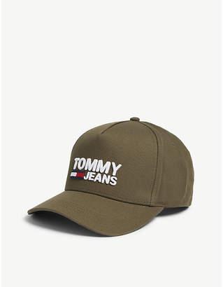 Tommy Hilfiger Logo-printed cotton baseball cap