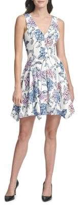 Kensie Floral Sleeveless A-Line Dress