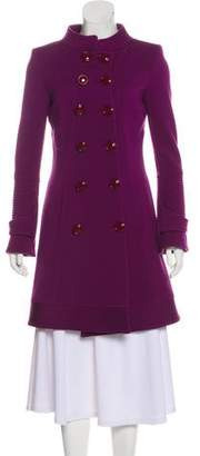 Versace Long Sleeve Knee-Length Coat