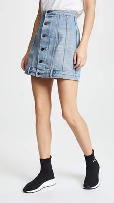 Alexander Wang Denim x Seamed Skirt