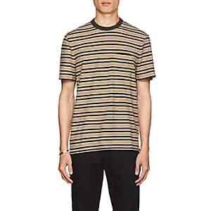 James Perse Men's Striped Slub Cotton T-Shirt - Green