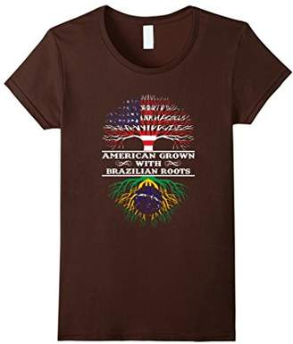 American Grown With Brazilian Roots Tee Shirt