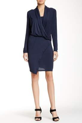 Loveappella Drape Front Wrap Dress