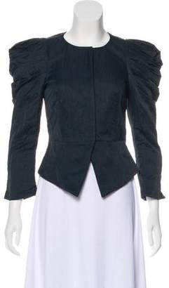 Elizabeth and James Collarless Long Sleeve Jacket