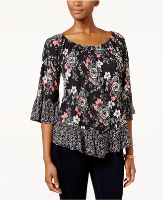 Style & Co Off-The-Shoulder Peplum Top, Only at Macy's $49.50 thestylecure.com