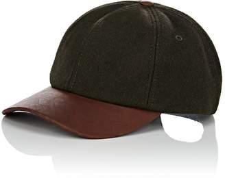 Crown Cap MEN'S WOOL-BLEND & LEATHER BASEBALL CAP