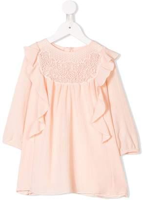 Chloé Kids crochet lace frill trim dress