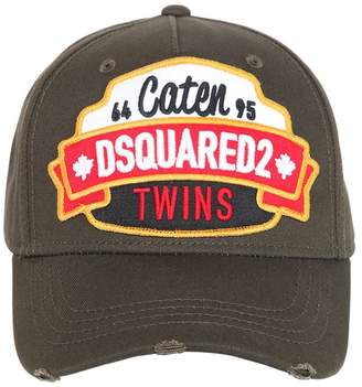 DSQUARED2 Caten Twins Patch Cotton Baseball Hat
