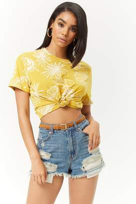 Forever 21 Boxy Stripe Floral Tee