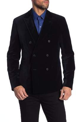 Michael Bastian Stretch Velveteen Double Breasted Blazer