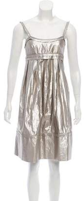 Robert Rodriguez Metallic A-Line Dress