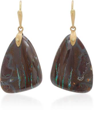 Annette Ferdinandsen 18K Gold Yahwah Opal Earrings