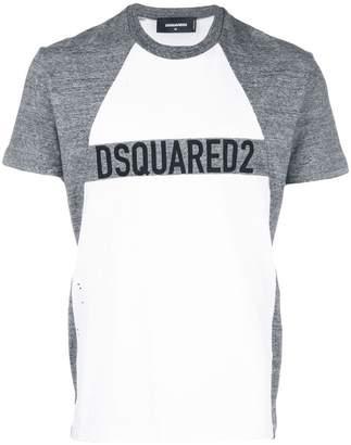 DSQUARED2 logo two-tone T-shirt