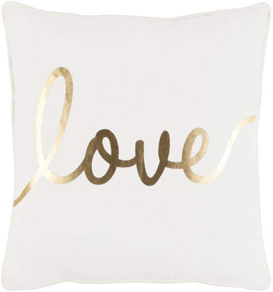 Love Toss Pillow IVORY/GOLD