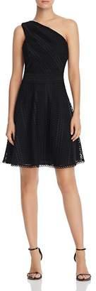 Adelyn Rae Londyn One-Shoulder Lace Dress