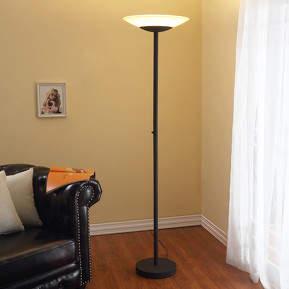 Rostfarbener LED-Deckenfluter Ragna