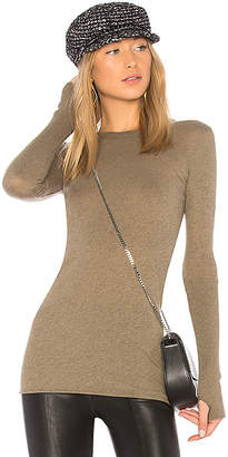 Enza Costa Cashmere Cuffed Crew Top