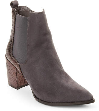 Gc Shoes Grey Paris Snake-Effect Ankle Booties