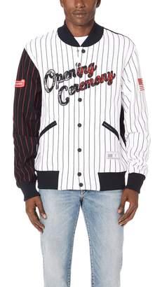 Opening Ceremony OC Pinstripe Baseball Jacket