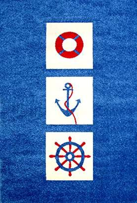 Little Helper 3D Childrens Play Rug in Nautical Design (134 x 180cm)