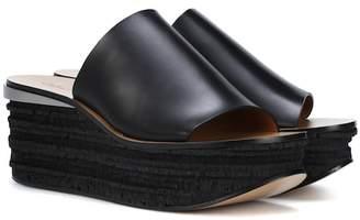 Chloé Camille leather platform sandals