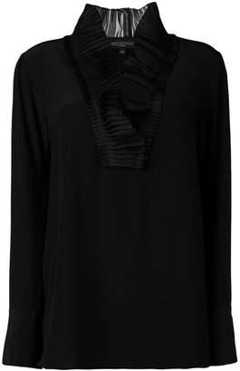 Antonelli micro-pleated detail blouse