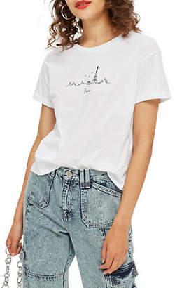 Topshop Paris Skyline T-Shirt
