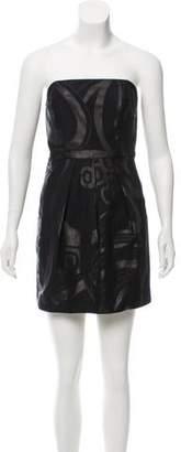 Tibi Strapless Printed Dress