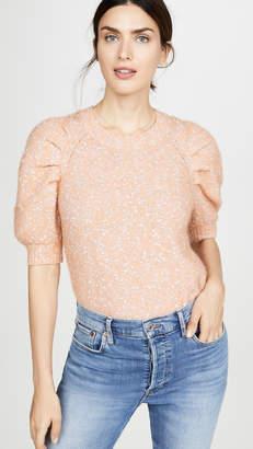 Rebecca Taylor Short Sleeve Optic Tweed Pullover