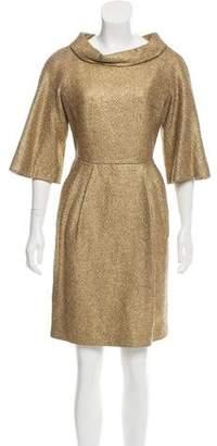 Michael Kors Metallic Knee-Length Dress