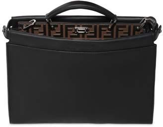 Fendi Slim Peekaboo Ff Embossed Leather Bag