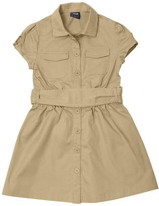 JCPenney French Toast Canvas Safari Dress - Girls 7-14