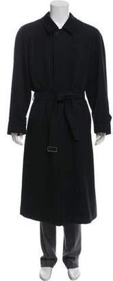 Burberry Long Wool Overcoat