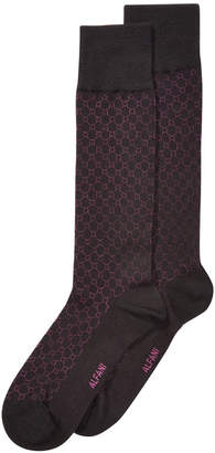 Alfani AlfaTech by Men's Circle Textured Dress Socks, Created for Macy's