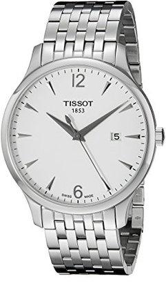 Tissot (ティソ) - ティソメンズt0636101103700 Traditionラウンドシルバートーンブレスレット腕時計