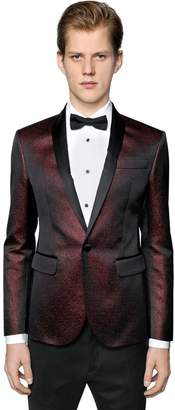 DSQUARED2 Cotton Blend Jacquard Tuxedo Jacket