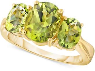 Macy's Peridot Three-Stone Ring (2-1/2 ct. t.w.) in 10k Gold