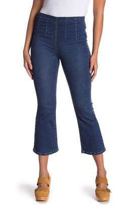 Free People Ultra High Crop Boot Jeans