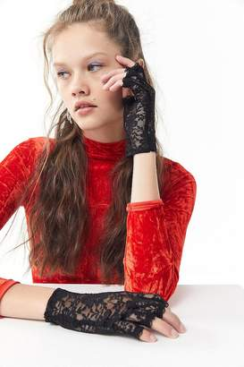 Urban Outfitters Lace Fingerless Glove