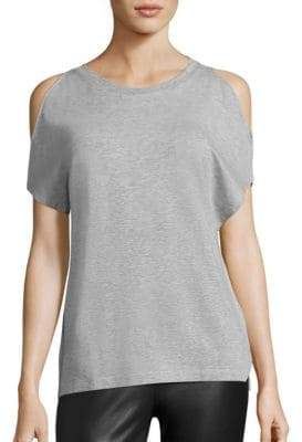 Majestic Filatures Soft Touch French Terry Cold-Shoulder Tee
