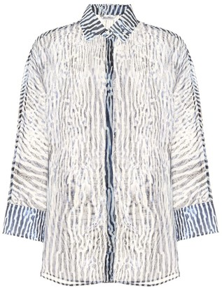 Max Mara Prati printed silk and cotton shirt