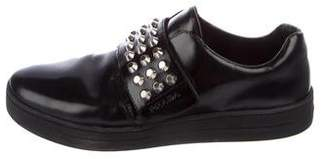 Prada Studded Leather Sneakers