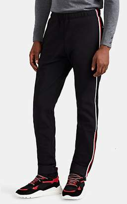 Moncler Men's Striped Tech-Fleece Jogger Pants - Black